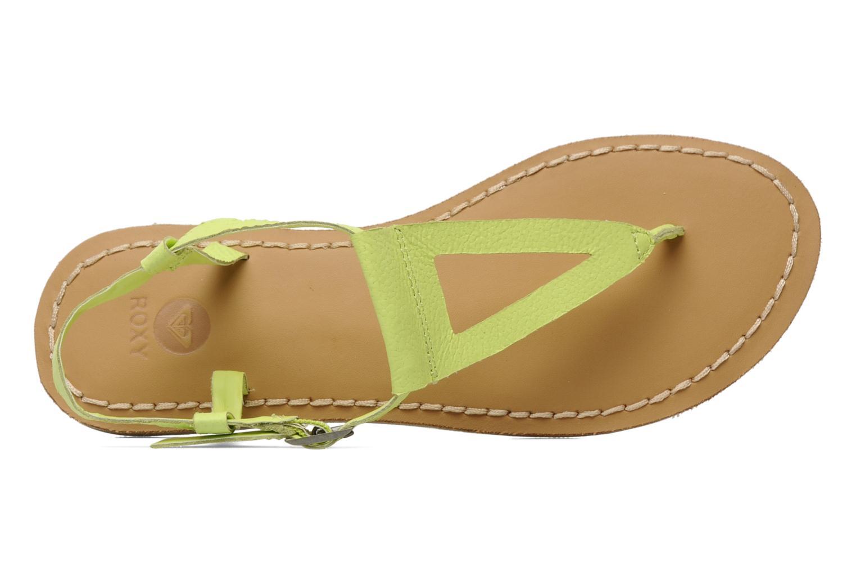 Sandales et nu-pieds Roxy Nymph Jaune vue gauche