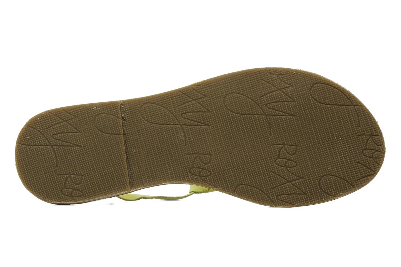 Sandales et nu-pieds Roxy Nymph Jaune vue haut