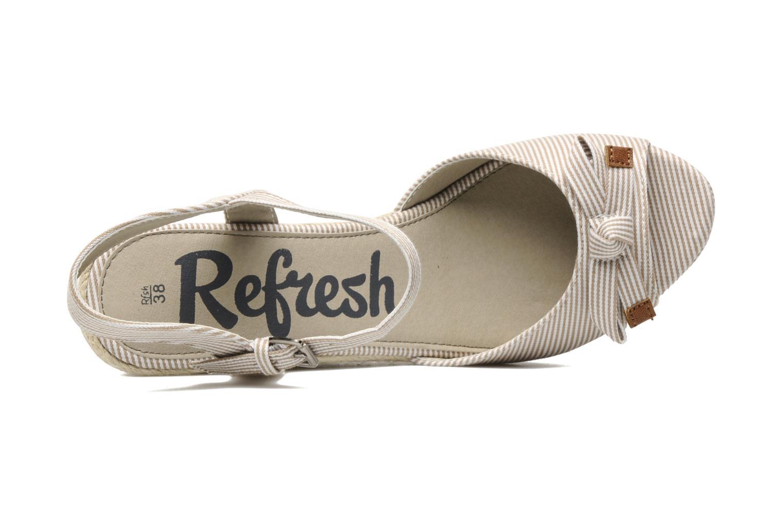 Sandales et nu-pieds Refresh CHOUNIK Beige vue gauche