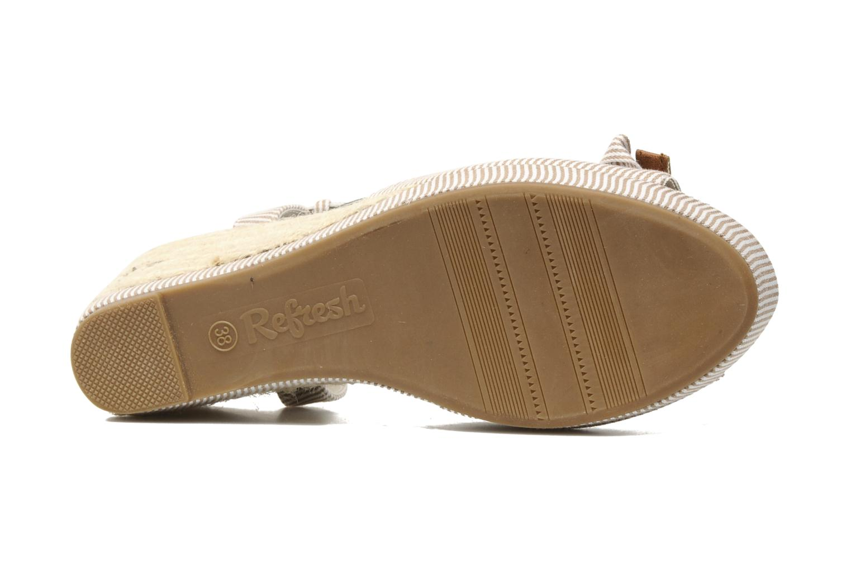 Sandales et nu-pieds Refresh CHOUNIK Beige vue haut