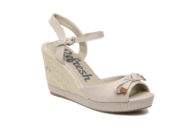 Sandales et nu-pieds Refresh CHOUNIK Beige vue détail/paire