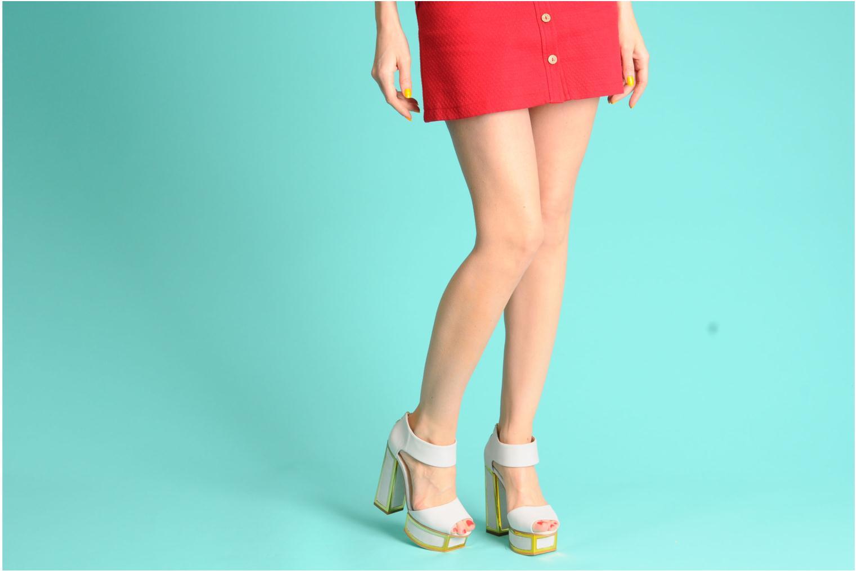 Sandales et nu-pieds Kat Maconie PEARL Gris vue bas / vue portée sac