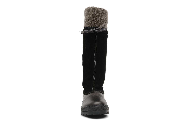 Stiefel Peak performance York collar boot schwarz schuhe getragen