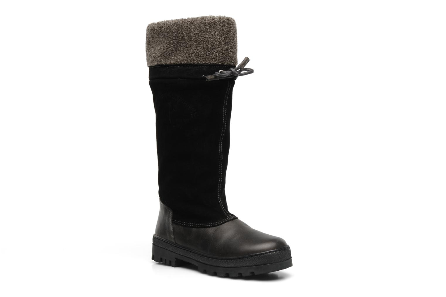 York collar boot Black