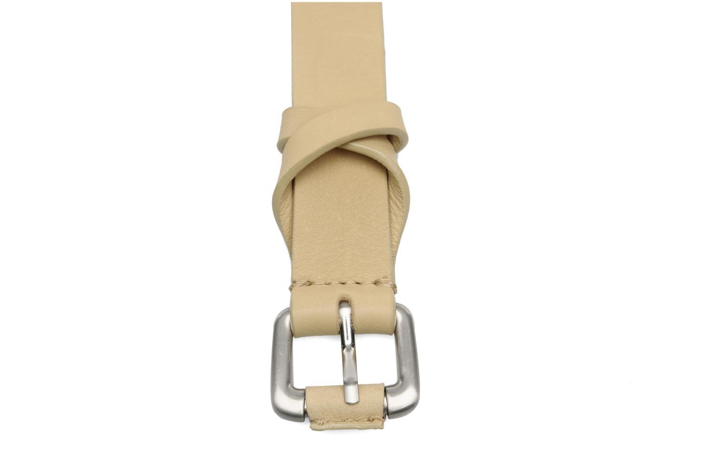 Cinturones Vanessa Bruno Athé Cinturón croisillon 2 Beige vista lateral izquierda