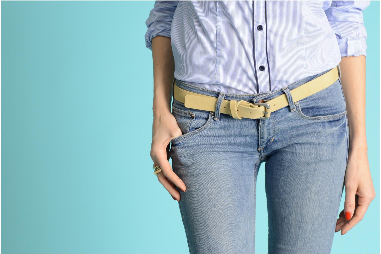 Cinturones Vanessa Bruno Athé Cinturón croisillon 2 Beige vista de arriba