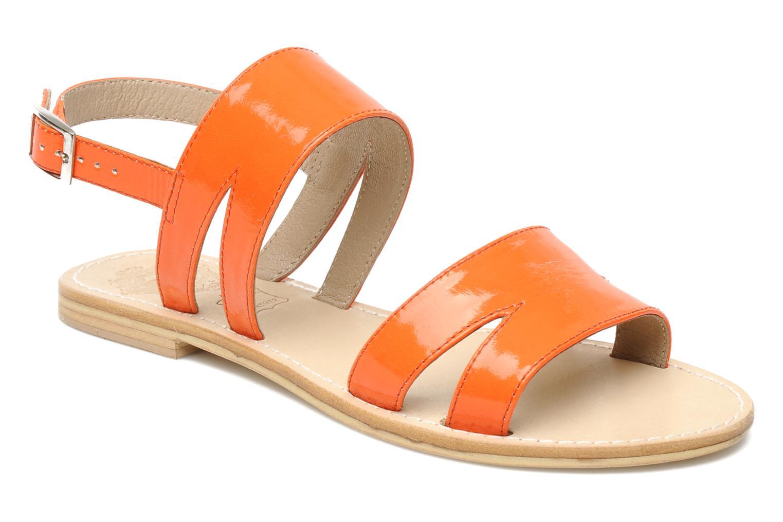 Sammy sandal patent tangerine