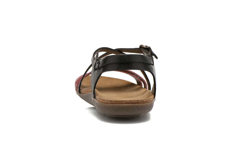 Sandales et nu-pieds Kickers Atomium Rouge vue droite