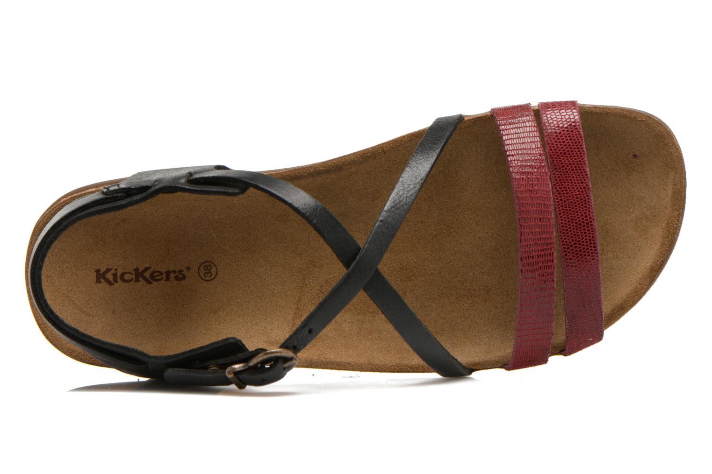 Sandales et nu-pieds Kickers Atomium Rouge vue gauche
