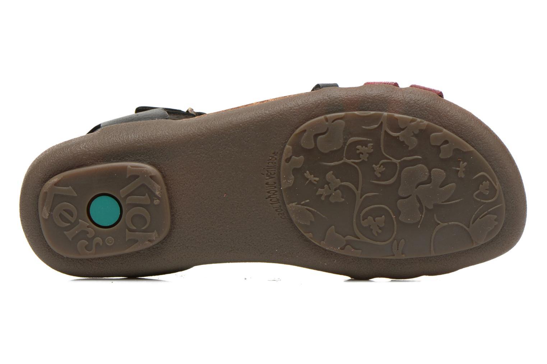 Sandales et nu-pieds Kickers Atomium Rouge vue haut