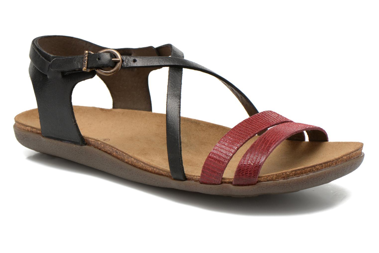 Sandales et nu-pieds Kickers Atomium Rouge vue détail/paire