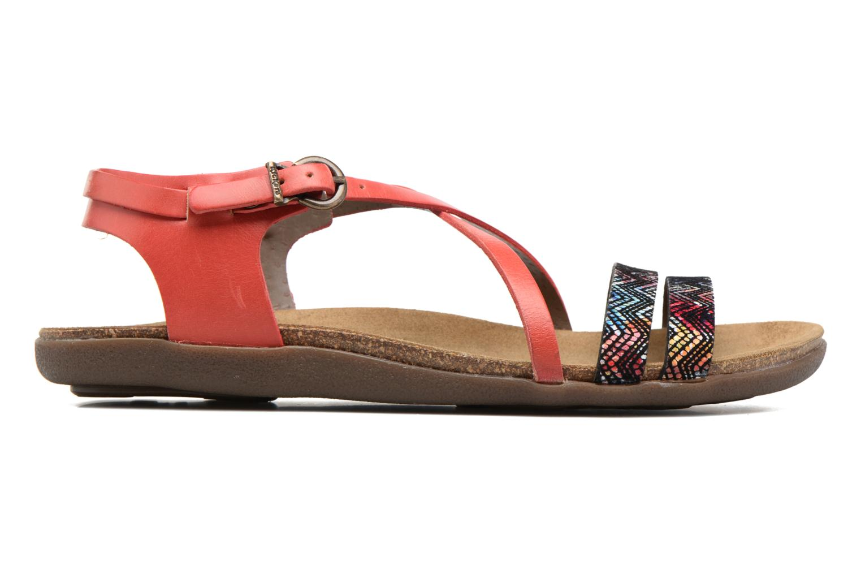 Sandales et nu-pieds Kickers Atomium Rouge vue derrière