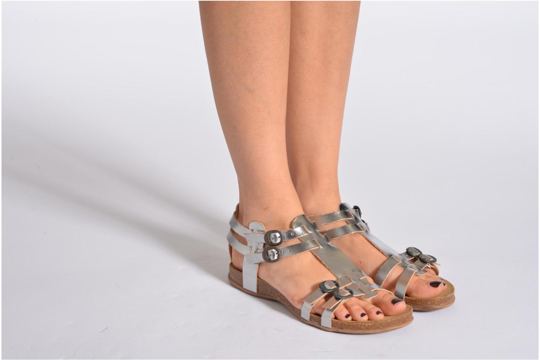 Sandales et nu-pieds Kickers Ana Multicolore vue bas / vue portée sac