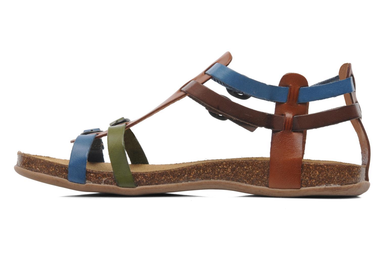 Sandales et nu-pieds Kickers Ana Multicolore vue face