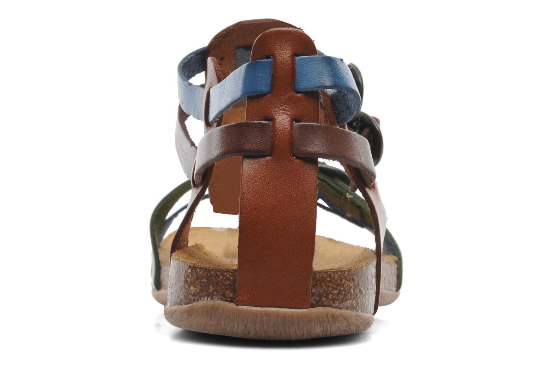 Sandales et nu-pieds Kickers Ana Multicolore vue droite