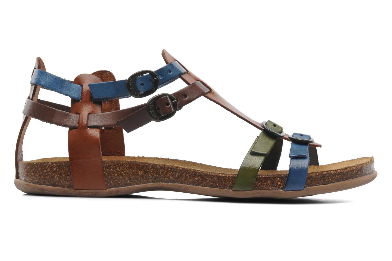 Sandales et nu-pieds Kickers Ana Multicolore vue derrière