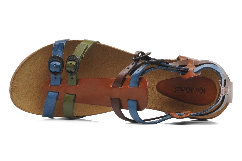 Sandales et nu-pieds Kickers Ana Multicolore vue gauche