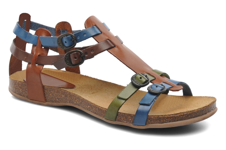 Sandales et nu-pieds Kickers Ana Multicolore vue détail/paire