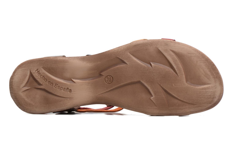 Sandales et nu-pieds Kickers Ana Marron vue haut