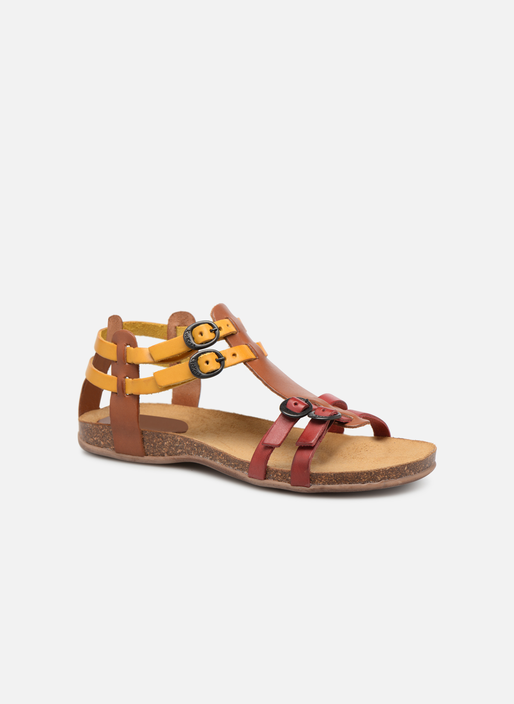 Sandaler Kickers Ana Brun detaljeret billede af skoene