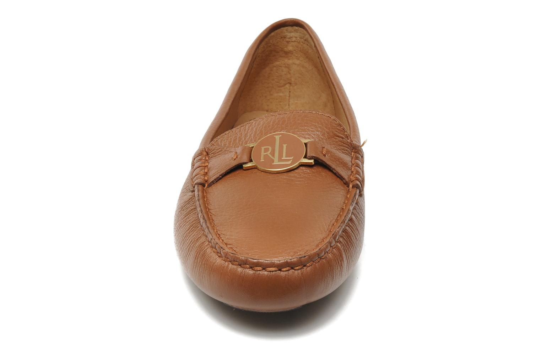 Mocassins Lauren by Ralph Lauren Carley Marron vue portées chaussures