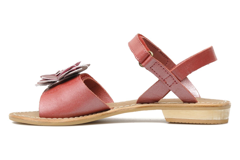 Sandalen Kickers IDOLE rot ansicht von vorne