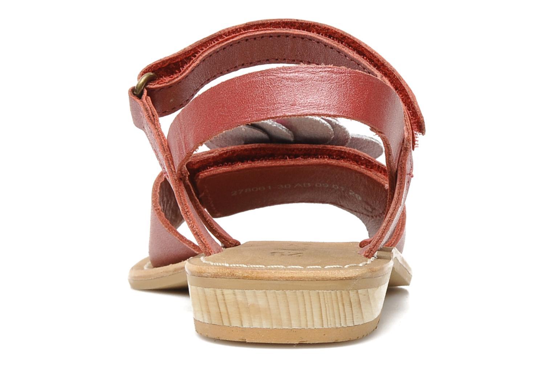 Sandalen Kickers IDOLE rot ansicht von rechts