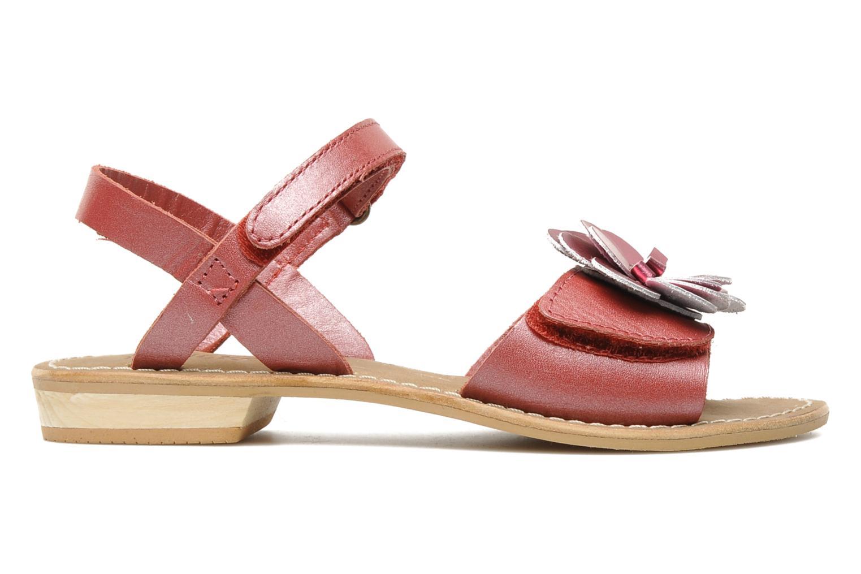 Sandalen Kickers IDOLE rot ansicht von hinten