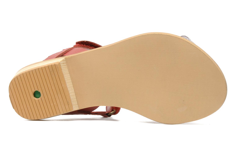 Sandalen Kickers IDOLE rot ansicht von oben