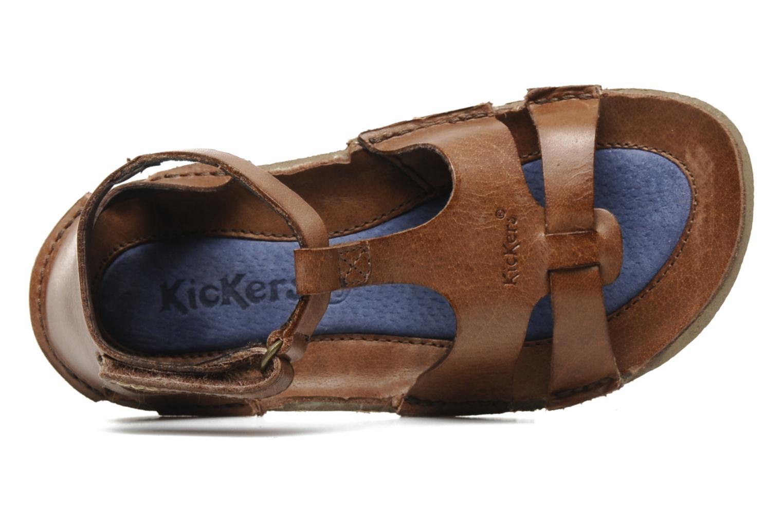 Sandalen Kickers PREPPY V Bruin links