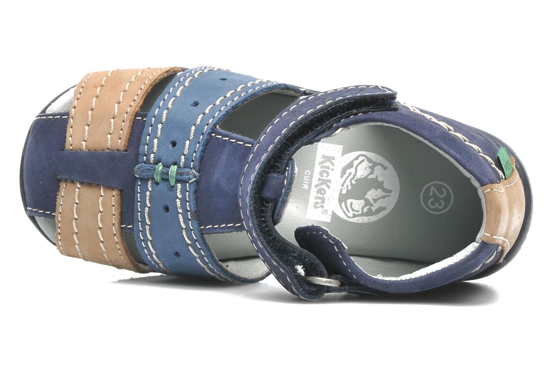 Sandales et nu-pieds Kickers BIGBAZAR Bleu vue gauche