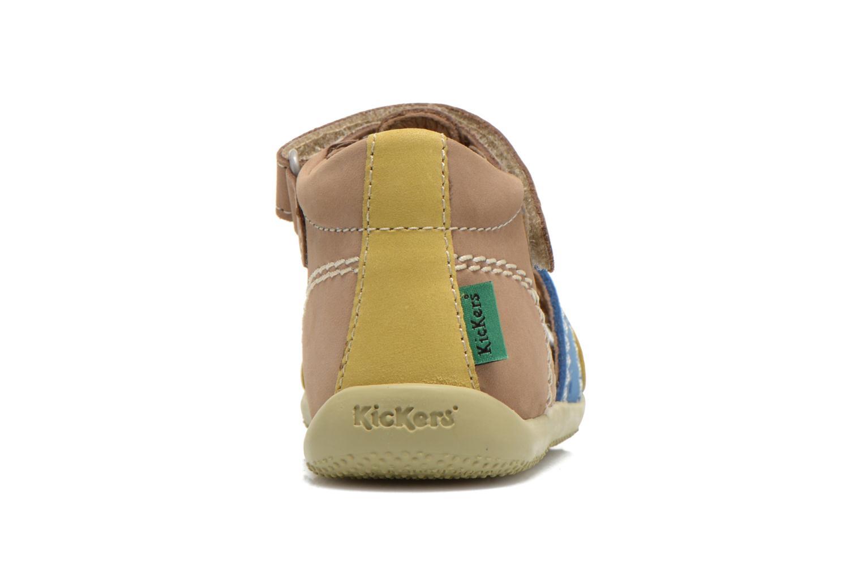 Sandales et nu-pieds Kickers BIGBAZAR Beige vue droite