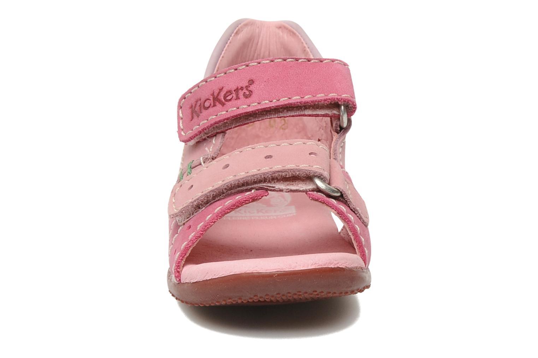 Sandales et nu-pieds Kickers BOPING Rose vue portées chaussures