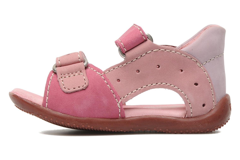 Sandalen Kickers BOPING rosa ansicht von vorne