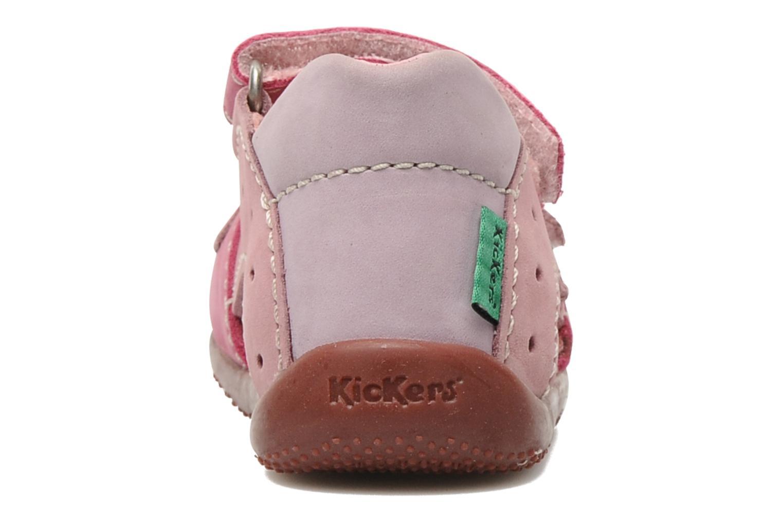 Sandalen Kickers BOPING rosa ansicht von rechts