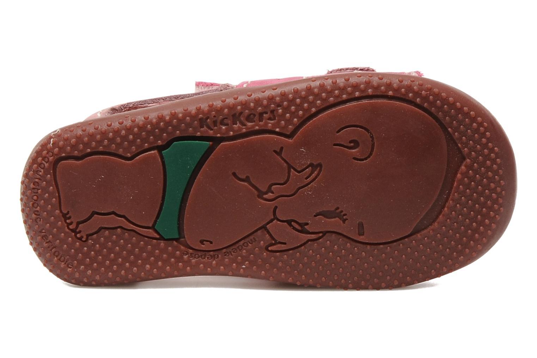 Sandales et nu-pieds Kickers BOPING Rose vue haut