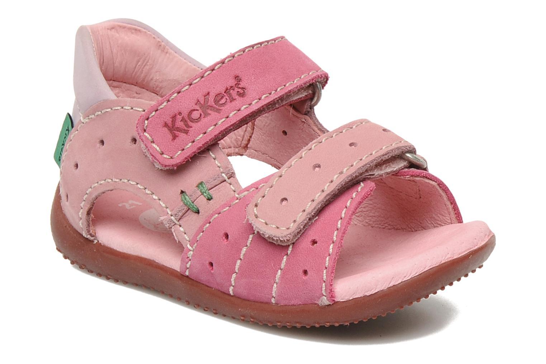 Sandales et nu-pieds Kickers BOPING Rose vue détail/paire