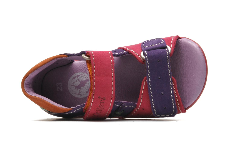 Sandales et nu-pieds Kickers BOPING Multicolore vue gauche