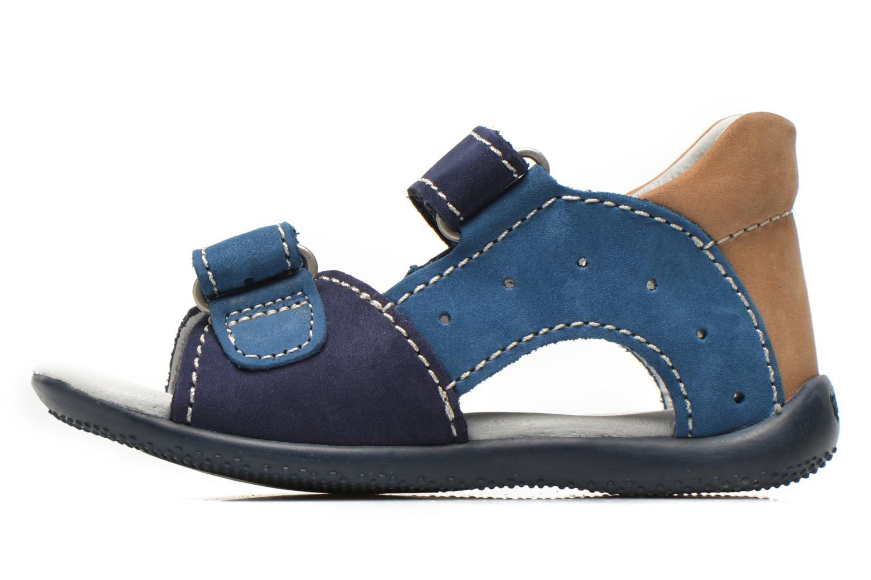 Sandalen Kickers BOPING blau ansicht von vorne
