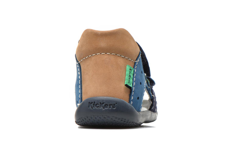 Sandalen Kickers BOPING Blauw rechts