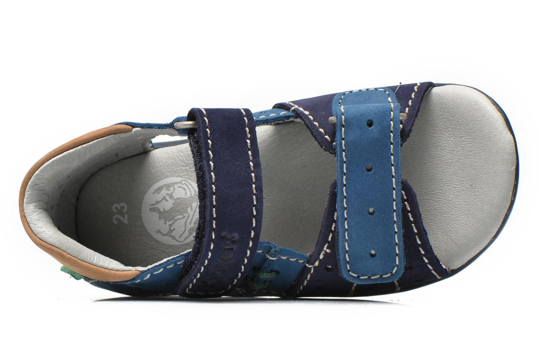 Sandalen Kickers BOPING blau ansicht von links