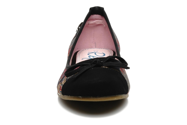 Ballerines Refresh ENOLAM Noir vue portées chaussures