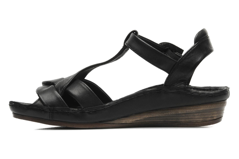 Sandales et nu-pieds Karston Iris Noir vue face