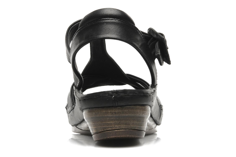 Sandales et nu-pieds Karston Iris Noir vue droite