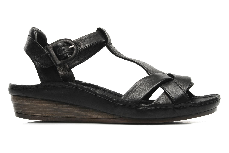 Sandales et nu-pieds Karston Iris Noir vue derrière
