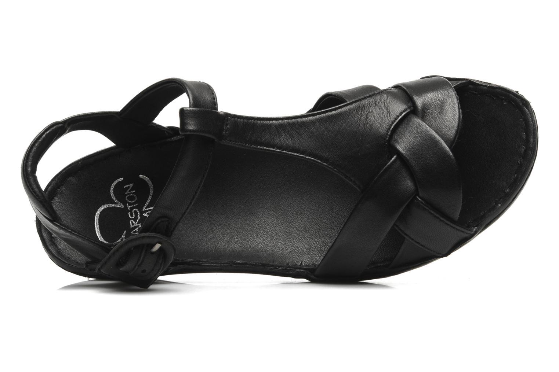 Sandales et nu-pieds Karston Iris Noir vue gauche