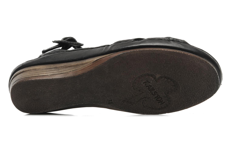Sandales et nu-pieds Karston Iris Noir vue haut