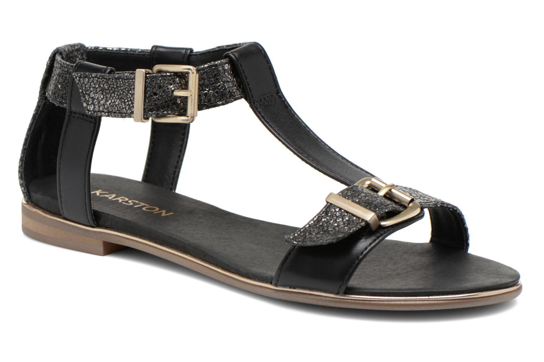 Sandales et nu-pieds Karston Sobel Noir vue détail/paire