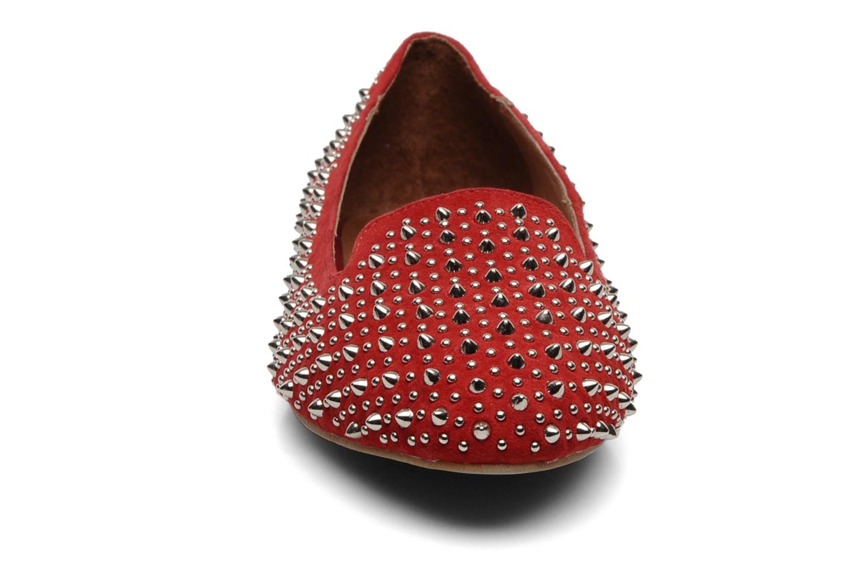 Mocasines Jeffrey Campbell Martini SP Rojo vista del modelo