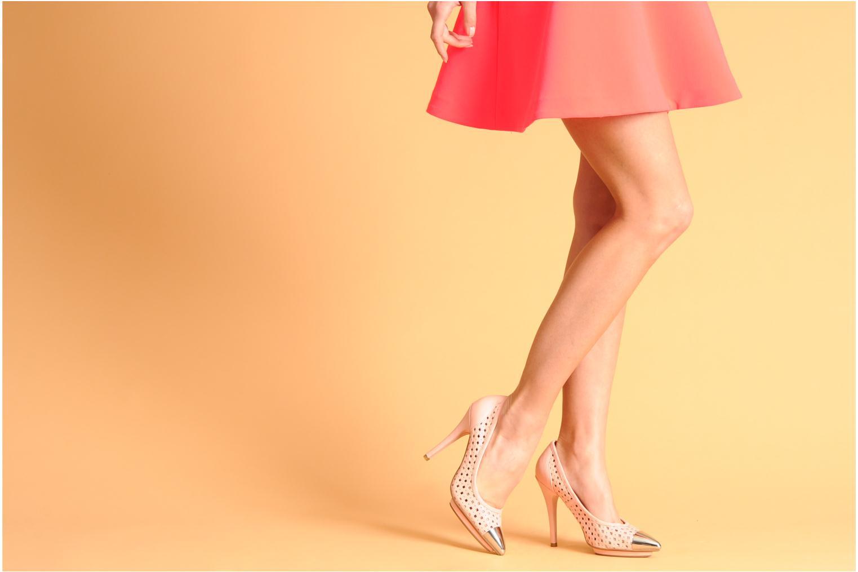Zapatos de tacón Jeffrey Campbell Bullet PNC Rosa vista de abajo